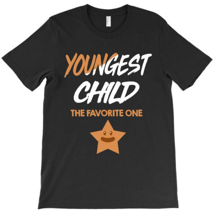 Youngest Child The Favorite One   Family Fun Gift T-shirt Designed By Vanode Art