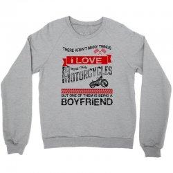 this boyfriend loves motorcycles Crewneck Sweatshirt | Artistshot