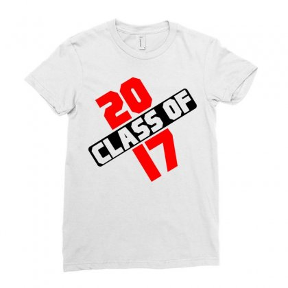 Class Of 2017 Ladies Fitted T-shirt Designed By Designbycommodus