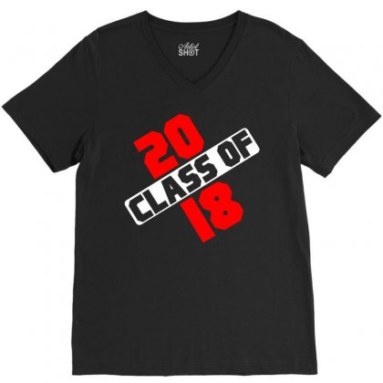 Class Of 2018 V-neck Tee Designed By Designbycommodus