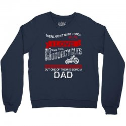 This Dad Loves Motorcycles Crewneck Sweatshirt | Artistshot