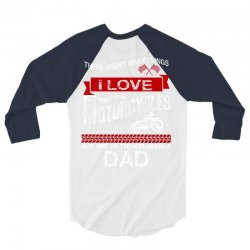 This Dad Loves Motorcycles 3/4 Sleeve Shirt | Artistshot