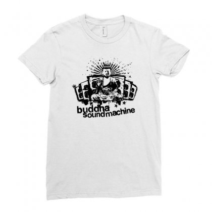 Buddha Sound Machine Ladies Fitted T-shirt Designed By Ditreamx