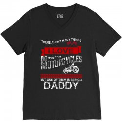 This Daddy Loves Motorcycles V-Neck Tee | Artistshot