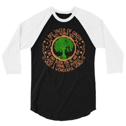 Trees Of Green 3/4 Sleeve Shirt Designed By Frizidan