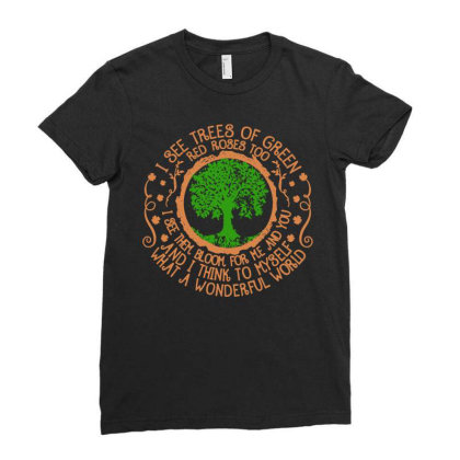 Trees Of Green Ladies Fitted T-shirt Designed By Frizidan