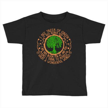 Trees Of Green Toddler T-shirt Designed By Frizidan