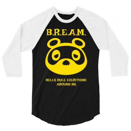 Bells Rule Everything Around Me 3/4 Sleeve Shirt Designed By Specstore