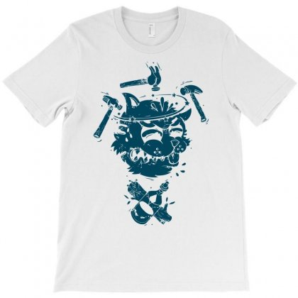 Dizzy Drunk Cat T-shirt Designed By Mdk Art