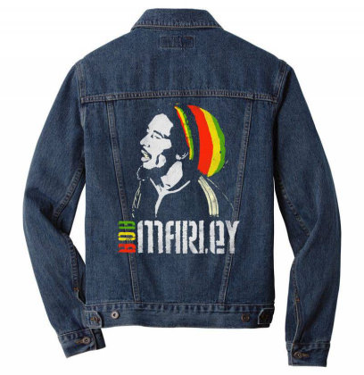 Bob Marley Men Denim Jacket Designed By Feniavey