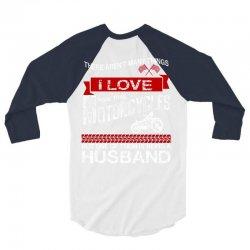 This Husband Loves Motorcycles 3/4 Sleeve Shirt | Artistshot