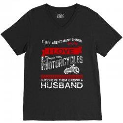 This Husband Loves Motorcycles V-Neck Tee | Artistshot