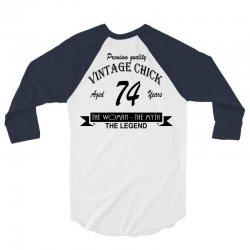 wintage chick 74 3/4 Sleeve Shirt   Artistshot