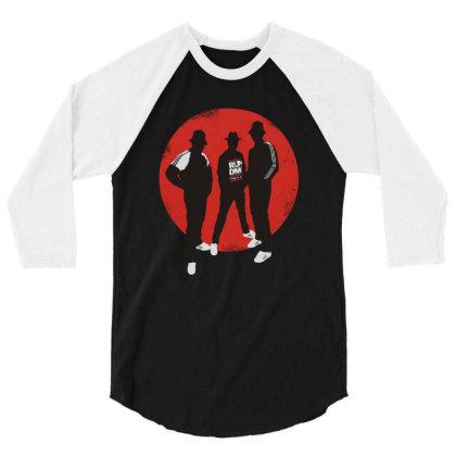 Three Rapper Boys 3/4 Sleeve Shirt Designed By Feniavey