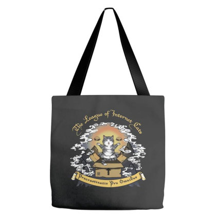 The League Of Internet Cats Tote Bags Designed By Feniavey