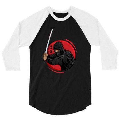 The Last Samurai 3/4 Sleeve Shirt Designed By Feniavey