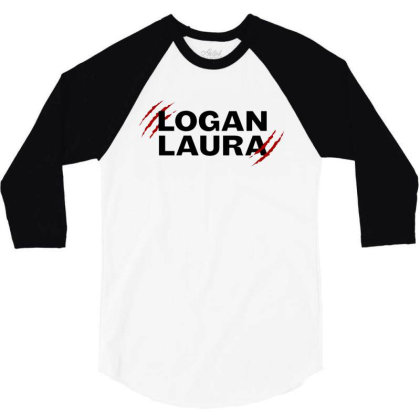 Team Logan Laura 3/4 Sleeve Shirt Designed By Feniavey