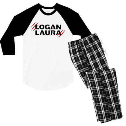 Team Logan Laura Men's 3/4 Sleeve Pajama Set Designed By Feniavey