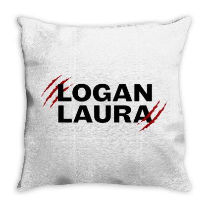 Team Logan Laura Throw Pillow Designed By Feniavey