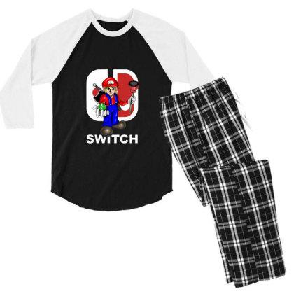 Switch Men's 3/4 Sleeve Pajama Set Designed By Feniavey