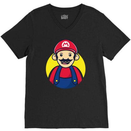 Super Mario V-neck Tee Designed By Feniavey