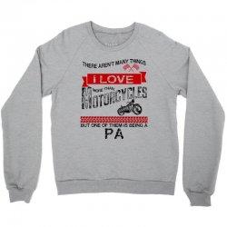 This pa Loves Motorcycles Crewneck Sweatshirt | Artistshot