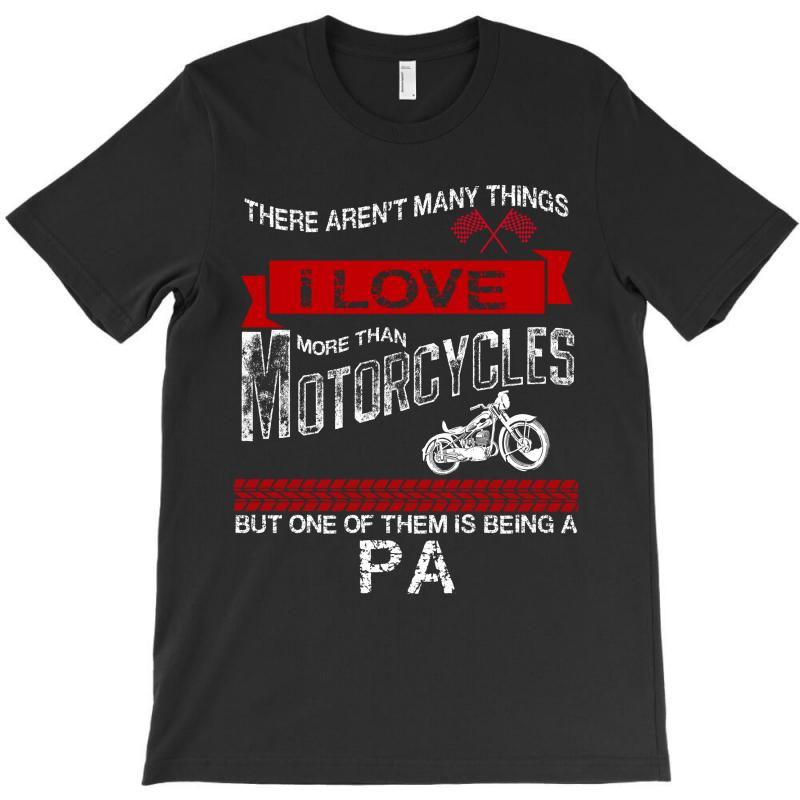 This Pa Loves Motorcycles T-shirt | Artistshot