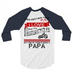 This Papa Loves Motorcycles 3/4 Sleeve Shirt | Artistshot