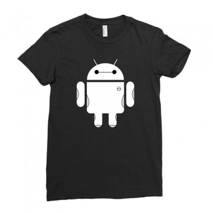 Baydroid Baymax Android Ladies Fitted T-shirt Designed By Chilistore
