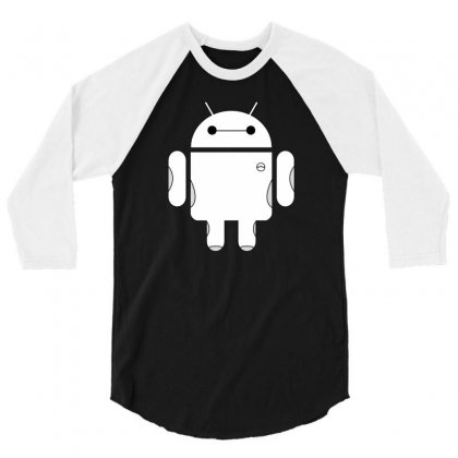 Baydroid Baymax Android 3/4 Sleeve Shirt Designed By Chilistore