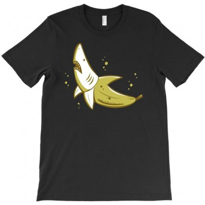 Banana Shark T-shirt Designed By Mdk Art