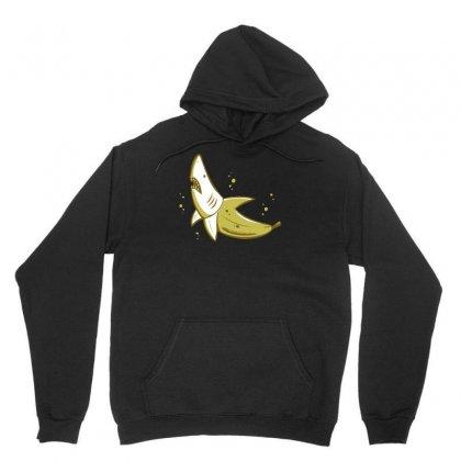 Banana Shark Unisex Hoodie Designed By Mdk Art
