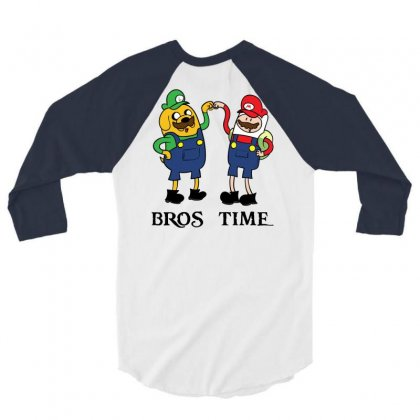 Bros Time 3/4 Sleeve Shirt Designed By Chilistore