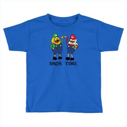 Bros Time Toddler T-shirt Designed By Chilistore