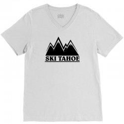 Ski Tahoe Mountains V-Neck Tee   Artistshot