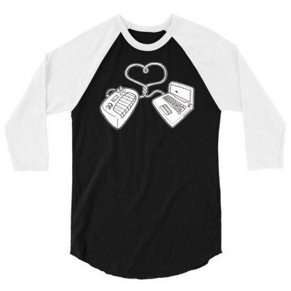 Usb Love 3/4 Sleeve Shirt Designed By Ditreamx
