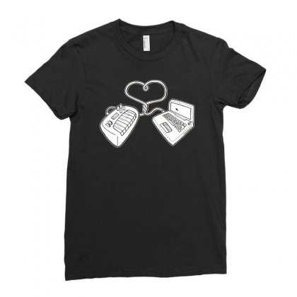 Usb Love Ladies Fitted T-shirt Designed By Ditreamx