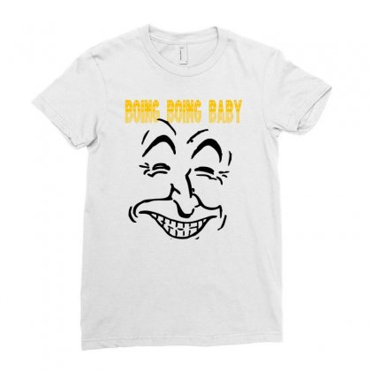 Boing Boing Baby Ladies Fitted T-shirt Designed By Ditreamx