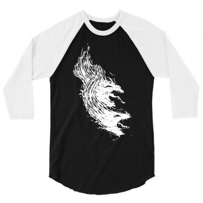 Come From Hell 3/4 Sleeve Shirt Designed By Mdk Art