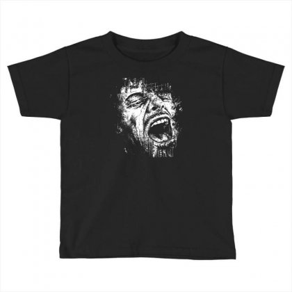 Scream Face Toddler T-shirt Designed By Mdk Art