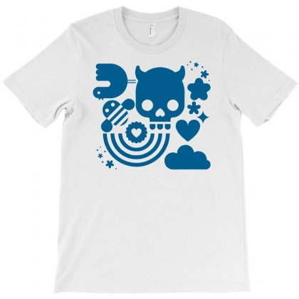 Bits And Pieces, Bee,bird,cloud,heart,rainbow,skull,star,vector, T-shirt Designed By Doestore