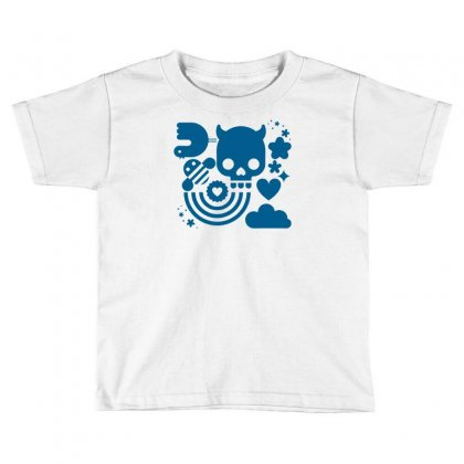Bits And Pieces, Bee,bird,cloud,heart,rainbow,skull,star,vector, Toddler T-shirt Designed By Doestore