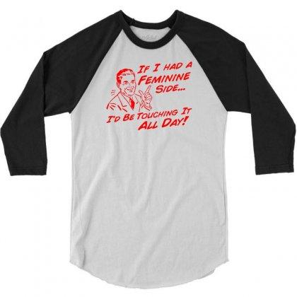Feminine Side 3/4 Sleeve Shirt Designed By Ditreamx