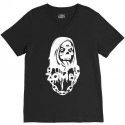 zomby skull V-Neck Tee   Artistshot
