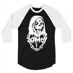 zomby skull 3/4 Sleeve Shirt   Artistshot