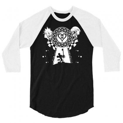 Lighting The Dark 3/4 Sleeve Shirt Designed By Mdk Art