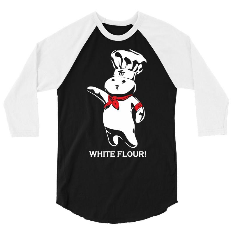 White Flour Dough Boy 3/4 Sleeve Shirt | Artistshot