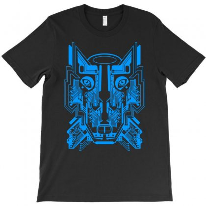Circuit Wolf T-shirt Designed By Apuy
