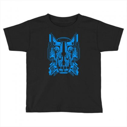 Circuit Wolf Toddler T-shirt Designed By Apuy