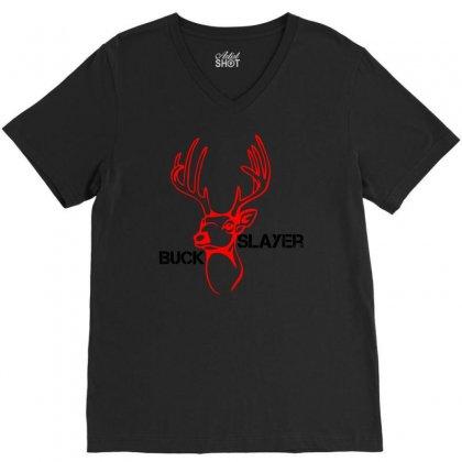 Buck Slayer V-neck Tee Designed By Chilistore